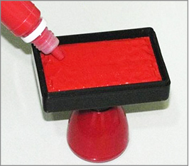 原子印章加印油的方法